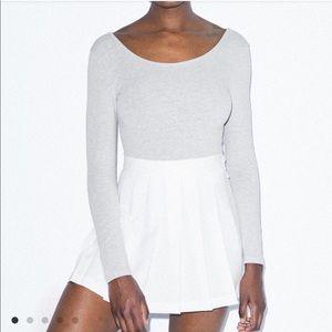 American Apparel Pleated Gabardine Tennis Skirt